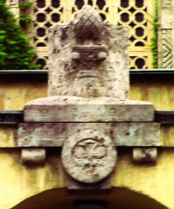 augsburg synagogue with Jewish seal and city emblem