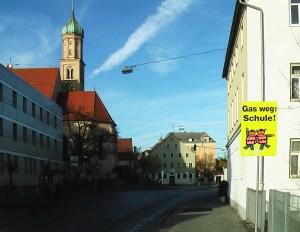 Augsburg Oberhausen Josefinum, Kirche, Rathaus, Schule