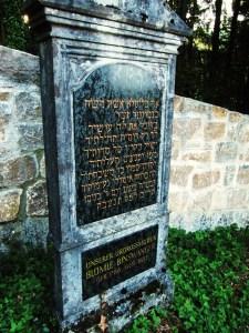 Bluemle Binswanger Grabstein jüdischer Friedhof Osterberg