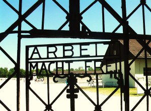 Dachau concentration camp Arbeit macht frei entrance eingang