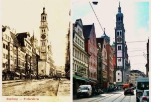 Augsburg Perlachturm Rathaus 1915 - 2015