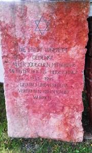 Stadt Weilheim Denkmal jüdische Mitbürger 1933 - 1945