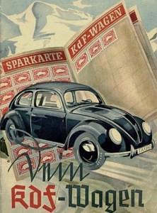 KdF Wagen Käfer Sparkarte Werbung